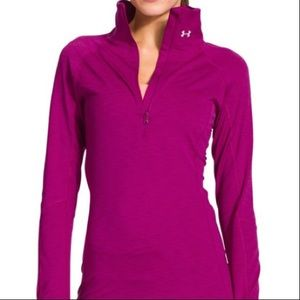 Under Armour}• lilac fitted zip up pullover